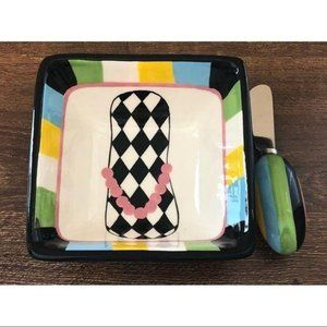 Main Street Collection Hand Painted Serving Dish